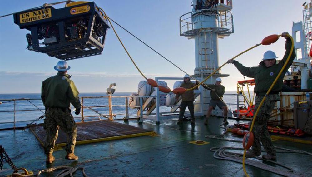Labores de búsqueda del submarino ARA San Juan