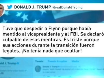 """Trump considera """"injusto"""" que mentir al FBI """"haya arruinado la vida"""" de Flynn"""