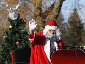 Imagen de archivo de Papá Noel saludando