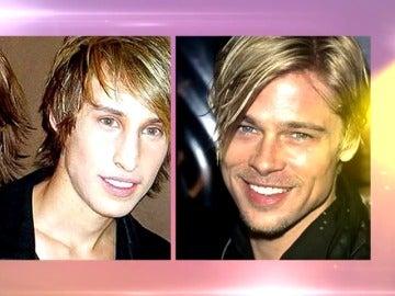 Unos gemelos intentan parecerse a Brad Pitt