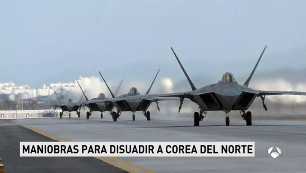 Aviones de EEUU y Corea del Sur