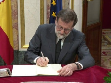 """Rajoy subraya que Manuel Marín deja """"un ejemplo muy bueno para el futuro"""""""