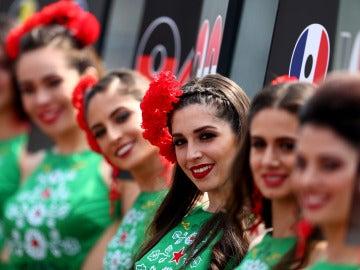 Azafatas en el GP de México de F1