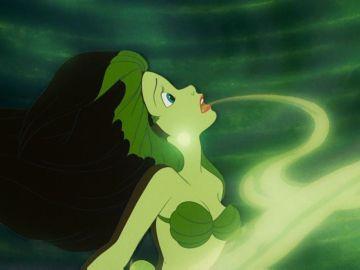 Ariel en el momento en el que Úrsula le quita la voz en 'La Sirenita'