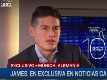 James, en su entrevista a Noticias Caracol