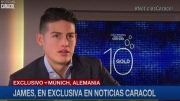 James, en su entrevista a Noticias Caracol