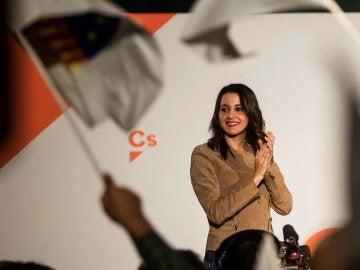 La candidata a la Generalitat por Ciudadanos, Inés Arrimadas