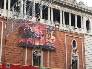 La pancarta de Greenpeace que critica a Rajoy y Nadal