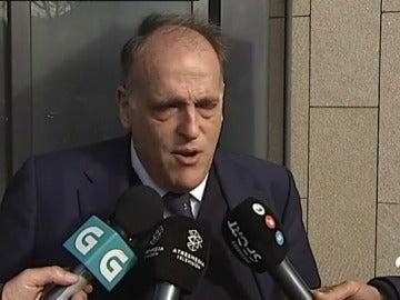 """Tebas, tras la carta de la FIFA: """"¿Es 28 de diciembre? Me parece una inocentada"""""""