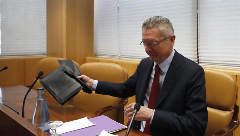 El expresidente de la Comunidad de Madrid y exministro de Justicia, Alberto Ruíz-Gallardón