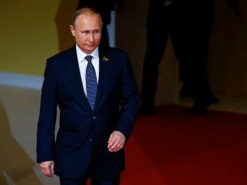 El presidente ruso, Vladimir Putin, durante el primer día de la cumbre económica del G20
