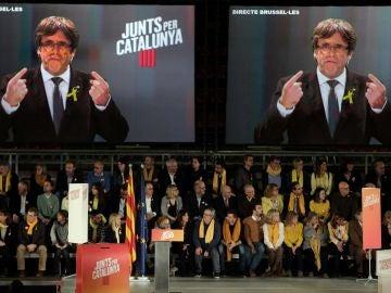 ntervención por videoconferencia del expresidente de la Generalitat, Carles Puigdemont