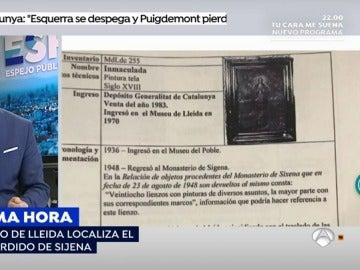 Hallan la obra extraviada en el Museo de Lleida