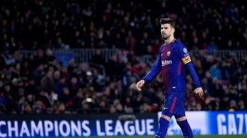 Gerard Piqué, en un partido del Barcelona