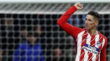 El jugador del Atlético, Fernando Torres