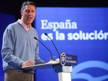 Xavier García Albiol en un acto de campaña en Salou