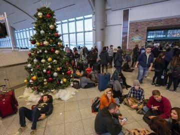 Pasajeros en el aeropuerto de Atlanta
