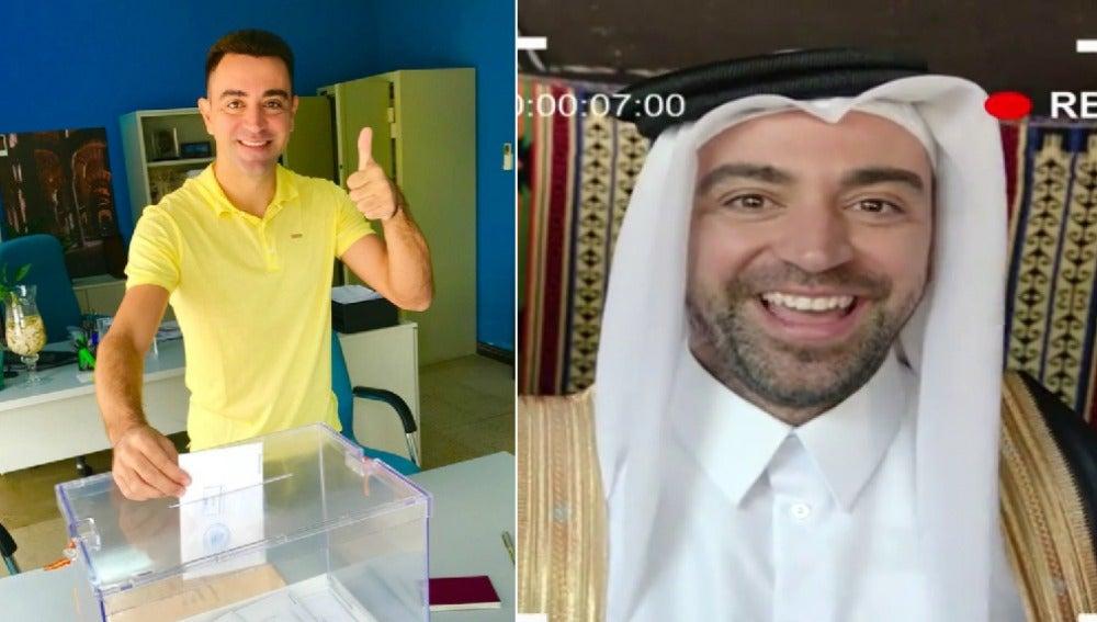 Xavi vota de amarillo en Qatar