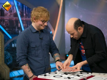 Ed Sheeran y Jandro en 'El Hormiguero 3.0'.