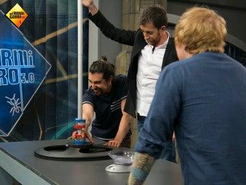 Marron, Pablo Motos y Ed Sheeran en 'El Hormiguero 3.0'.
