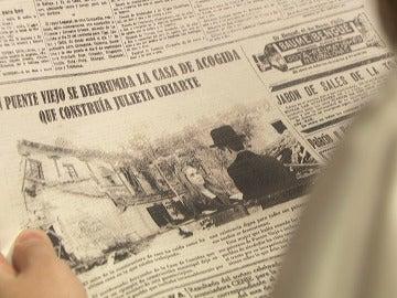 El nombre de Julieta, publicado en la primera página de los periódicos