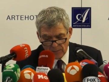Ángel María Villar, en rueda de prensa