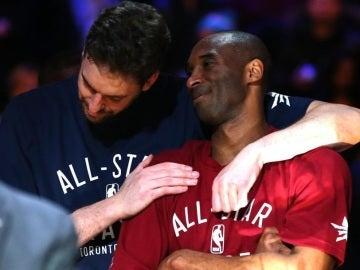 Pau Gasol y Kobe Bryant, en un 'All-Star' de la NBA