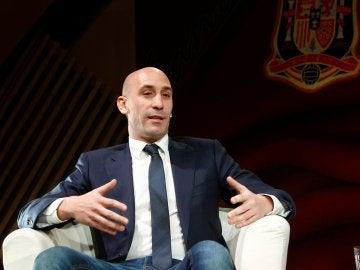 Luis Rubiales, en un acto en Madrid