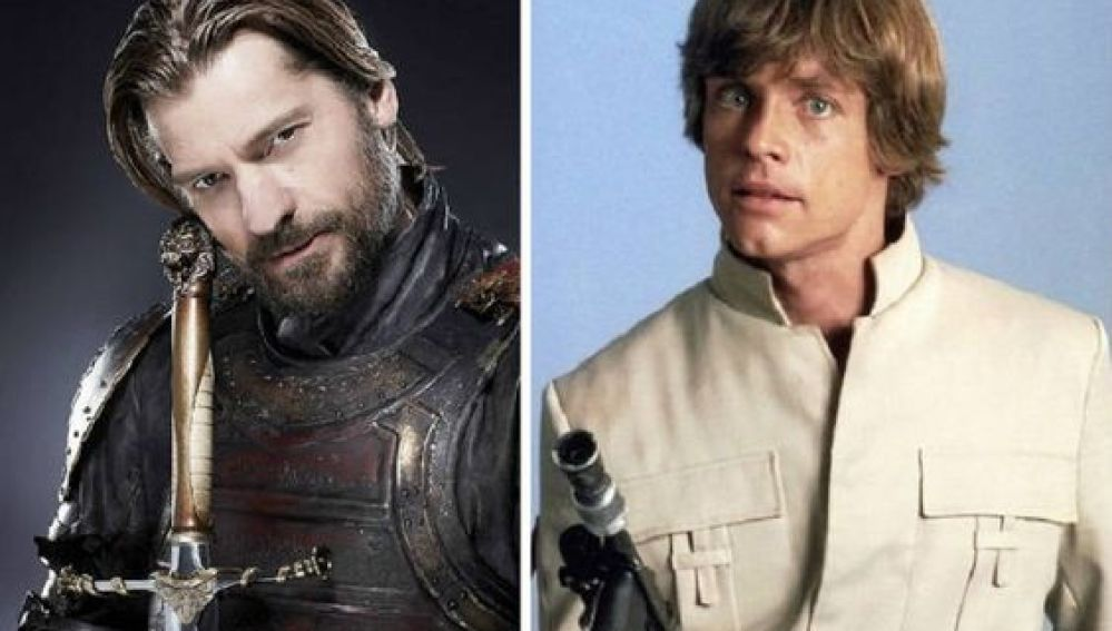 Jaime Lannister de 'Juego de Tronos' y Luke Skywalker de 'Star Wars'