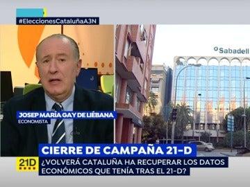 """Gay de Liébana: """"Cataluña ha perdido casi dos años en su progreso económico"""""""