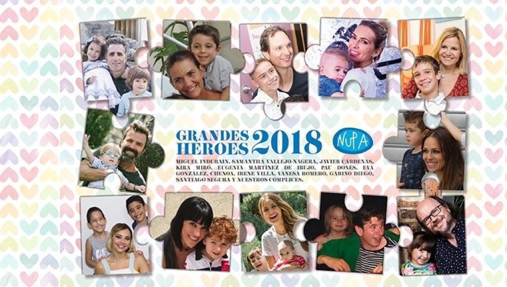 Calendario Solidario Grandes Héroes 2018
