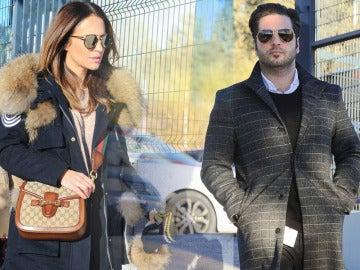 Paula Echevarría y David Bustamante llegando al colegio de su hija