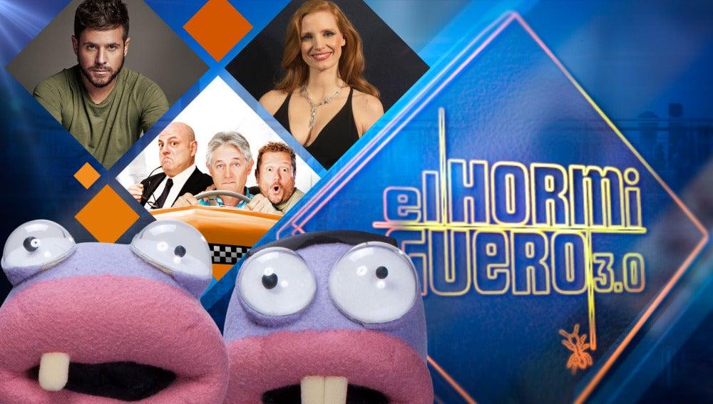 Pablo López, Josema Yuste, Santiago Urrialde y El Monaguillo y Jessica Chastain estrenan año nuevo en 'El Hormiguero 3.0'