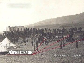 Los rifeños atacaban Melilla con los cañones españoles que robaron