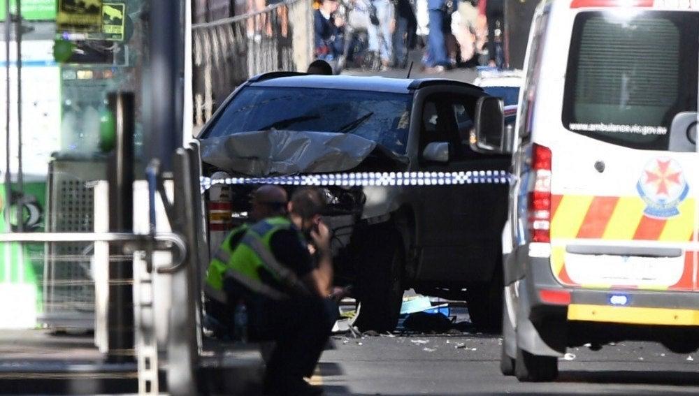 Imagen del atropello en Melbourne