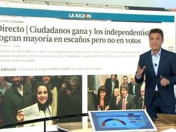 Las principales portadas de la prensa española destacan la victoria de Inés Arrimadas
