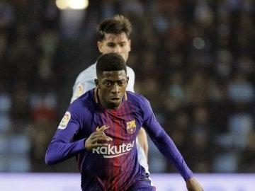 Dembelé reaparece tras su lesión