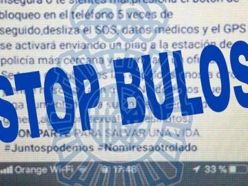 Advertencia de 'Stop bulos' de la Policía Nacional