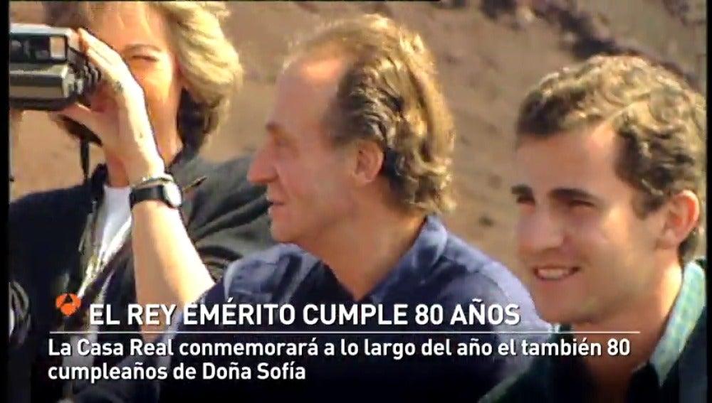 El Rey emérito Juan Carlos I cumple 80 años en un año que también se conmemoran 40 años de la Constitución