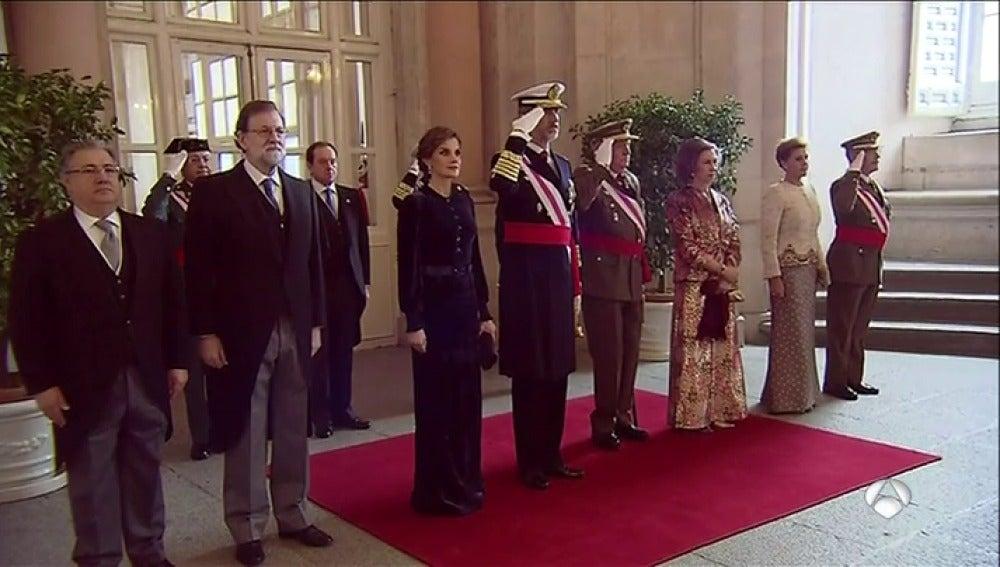 Felipe VI preside la Pascua Militar con la presencia del Rey Juan Carlos
