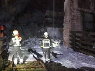 Incendio en el Parque de Cabárceno