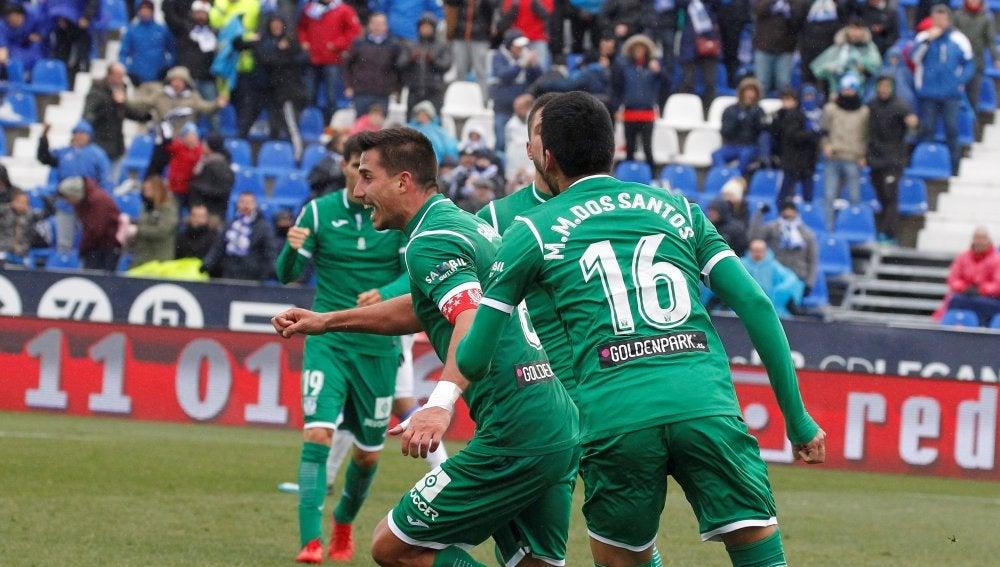 Gabriel festeja su tanto ante la Real Sociedad