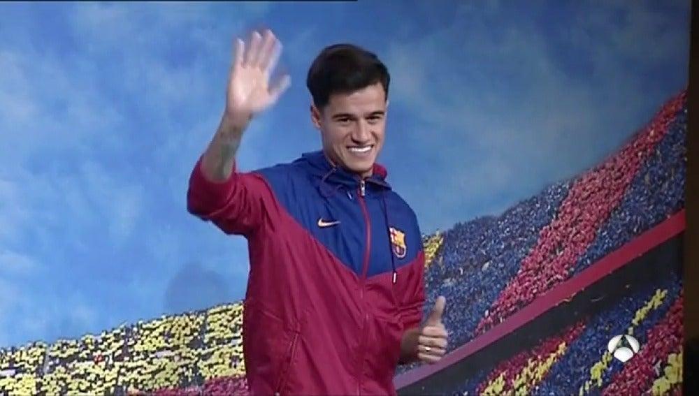 Primera imagen de Coutinho con el Barcelona