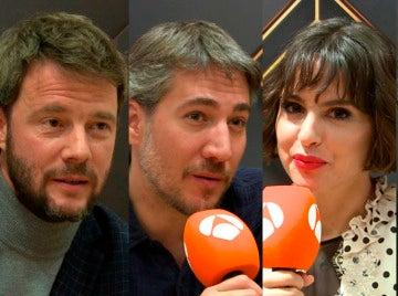 Alberto Ammann, Verónica Echegui, Paco Tous y Eloy Azorín definen 'Apaches' en tres palabras