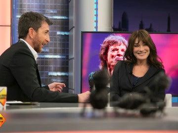 Carla Bruni se sincera: ¿Es más alto Pablo Motos o Nicolas Sarkozy?