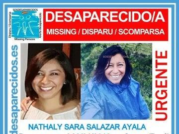 Nathaly Salazar Ayala, desaparecida en Perú