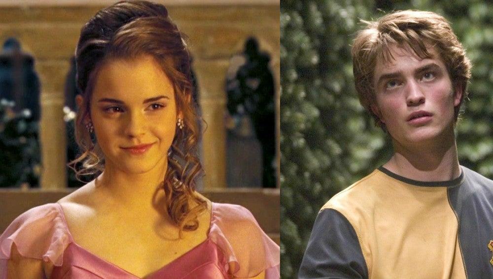 Emma Watson y Robert Pattinson en 'El Cáliz de Fuego'