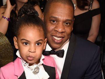 Blue Ivy con su padre Jay-Z