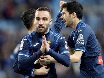 Darder celebra su gol ante el Málaga en La Rosaleda