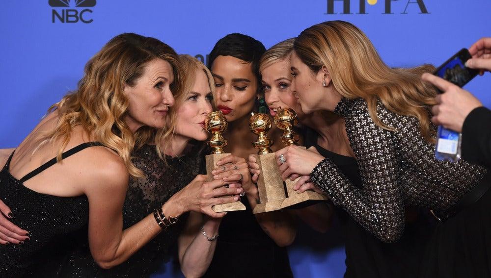 El reparto de 'Big Little Lies' con sus premios